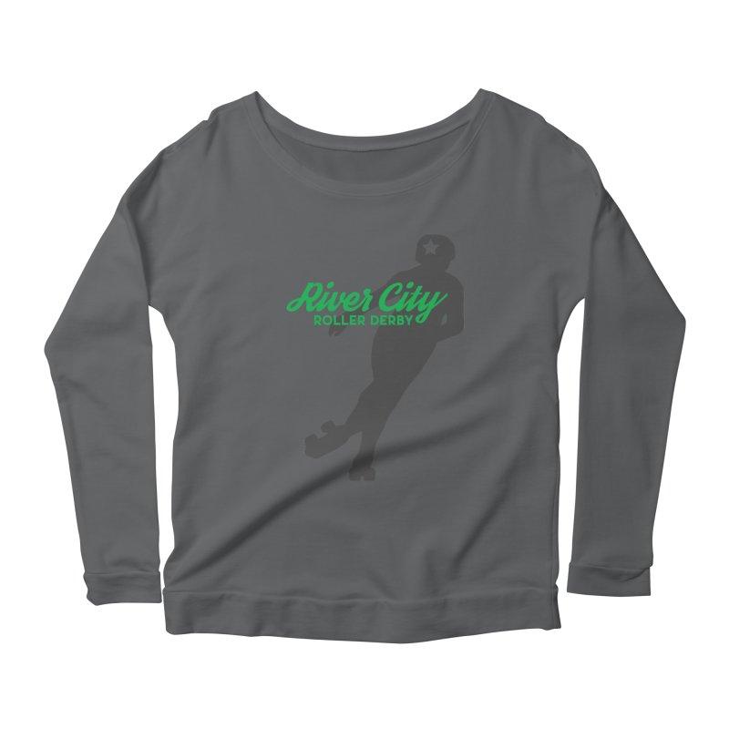 River City Roller Derby Skater Women's Scoop Neck Longsleeve T-Shirt by River City Roller Derby's Artist Shop