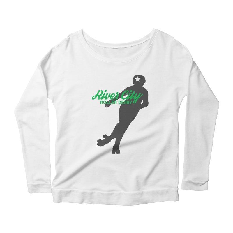 River City Roller Derby Skater Women's Scoop Neck Longsleeve T-Shirt by RiverCityRollerDerby's Artist Shop