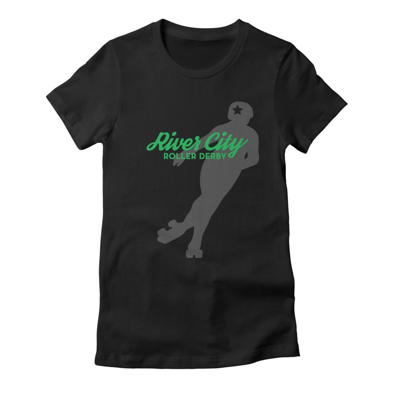 River City Roller Derby Skater Women's Fitted T-Shirt by River City Roller Derby's Artist Shop
