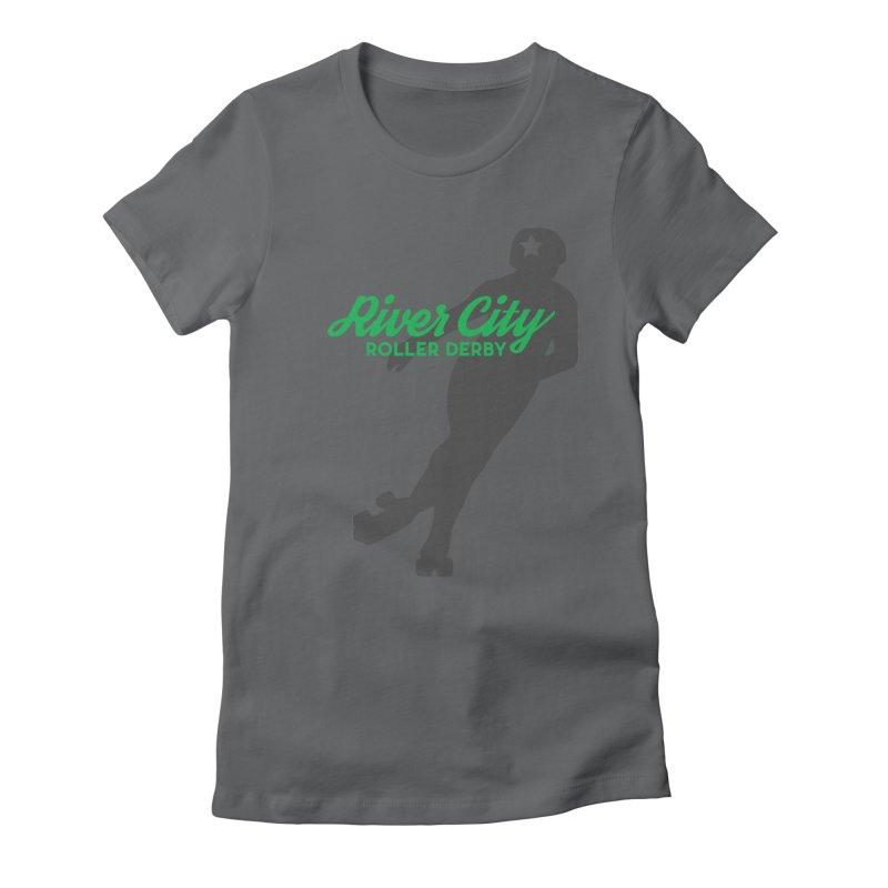 River City Roller Derby Skater Women's Fitted T-Shirt by RiverCityRollerDerby's Artist Shop