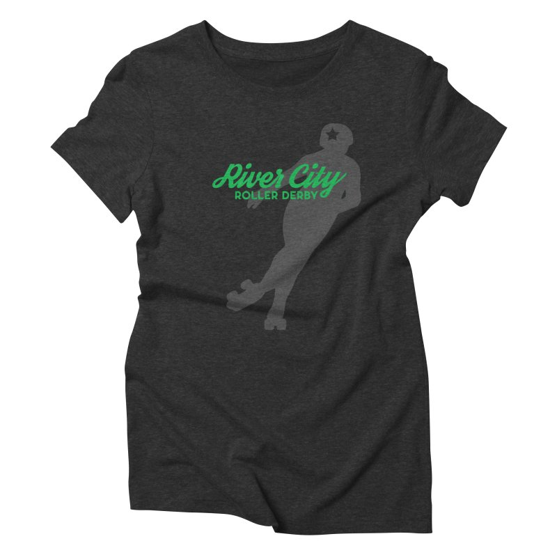 River City Roller Derby Skater Women's Triblend T-Shirt by River City Roller Derby's Artist Shop