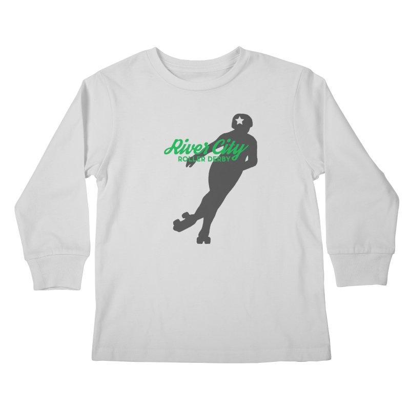 River City Roller Derby Skater Kids Longsleeve T-Shirt by River City Roller Derby's Artist Shop