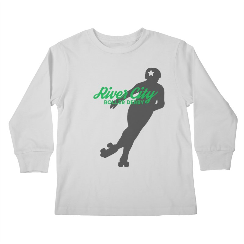 River City Roller Derby Skater Kids Longsleeve T-Shirt by River City Roller Derby's Artist Shop