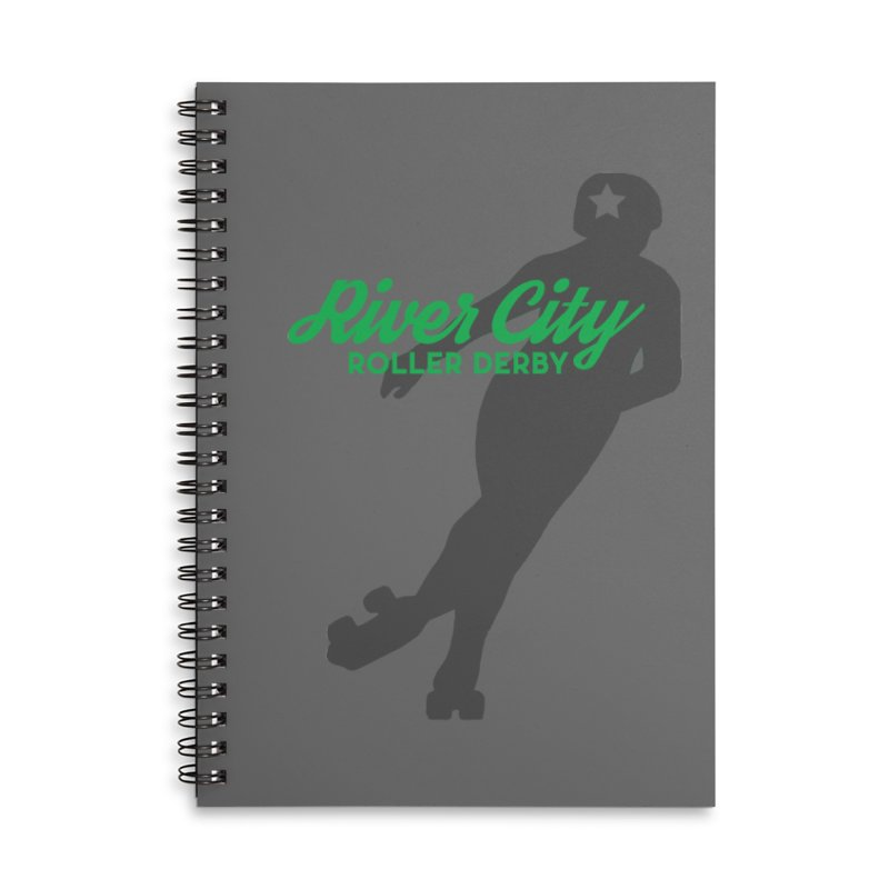 River City Roller Derby Skater Accessories Lined Spiral Notebook by River City Roller Derby's Artist Shop