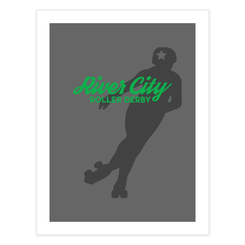 River City Roller Derby Skater Home Fine Art Print by River City Roller Derby's Artist Shop