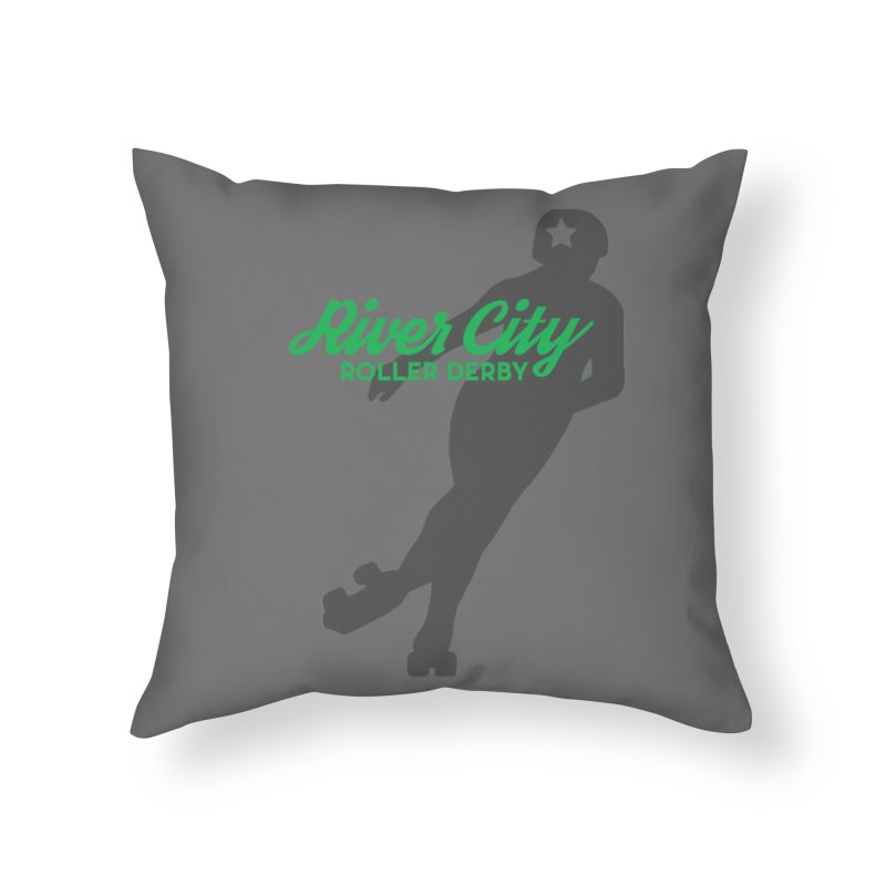 River City Roller Derby Skater Home Throw Pillow by River City Roller Derby's Artist Shop