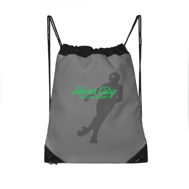 River City Roller Derby Skater Accessories Drawstring Bag Bag by River City Roller Derby's Artist Shop
