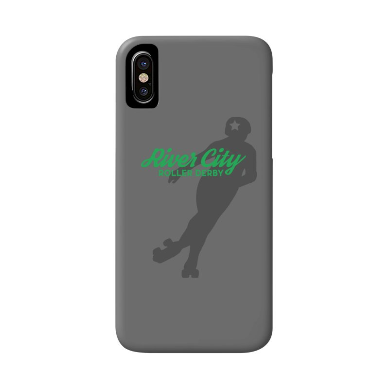 River City Roller Derby Skater Accessories Phone Case by RiverCityRollerDerby's Artist Shop