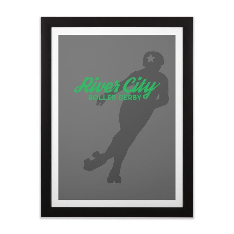 River City Roller Derby Skater Home Framed Fine Art Print by River City Roller Derby's Artist Shop