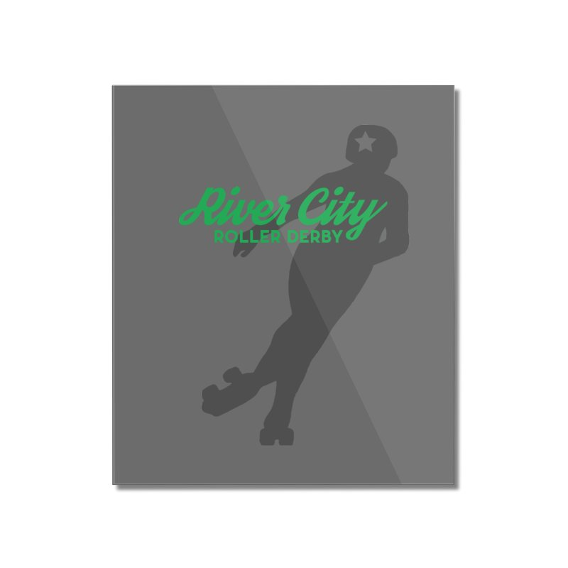 River City Roller Derby Skater Home Mounted Acrylic Print by RiverCityRollerDerby's Artist Shop