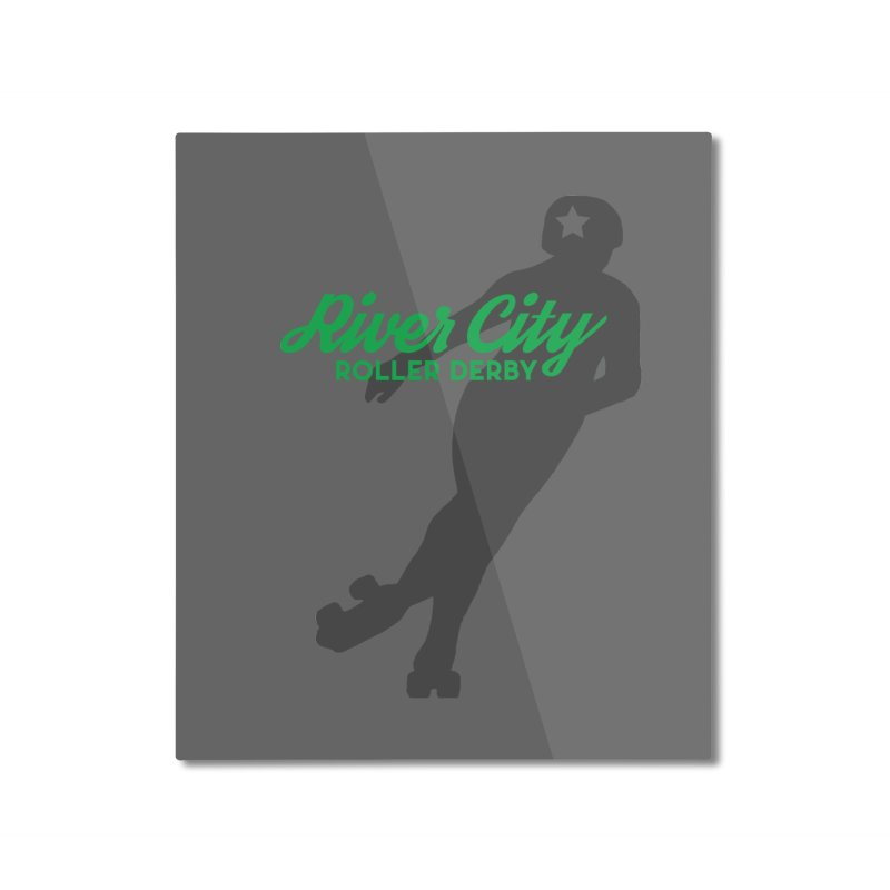 River City Roller Derby Skater Home Mounted Aluminum Print by River City Roller Derby's Artist Shop