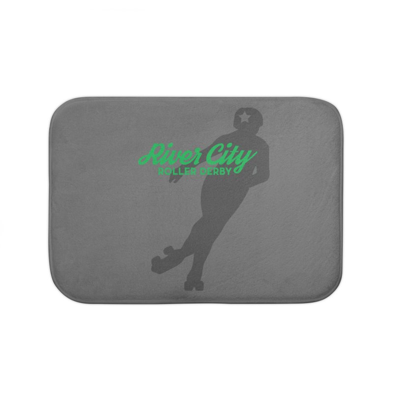 River City Roller Derby Skater Home Bath Mat by RiverCityRollerDerby's Artist Shop