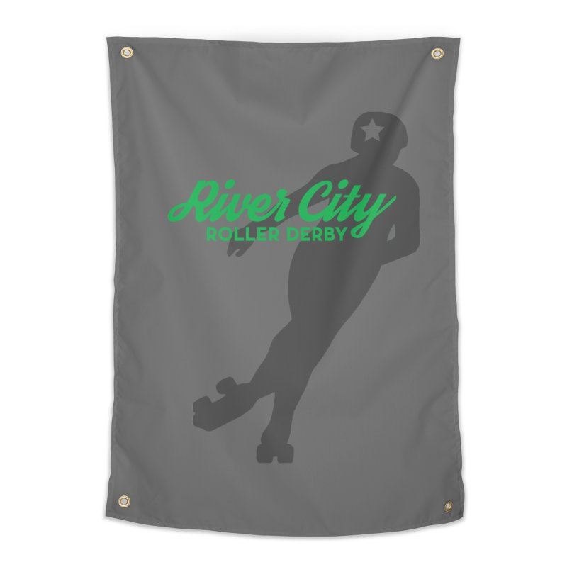 River City Roller Derby Skater Home Tapestry by RiverCityRollerDerby's Artist Shop