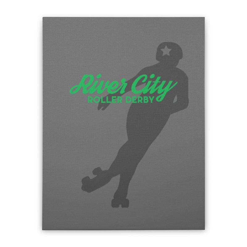 River City Roller Derby Skater Home Stretched Canvas by River City Roller Derby's Artist Shop
