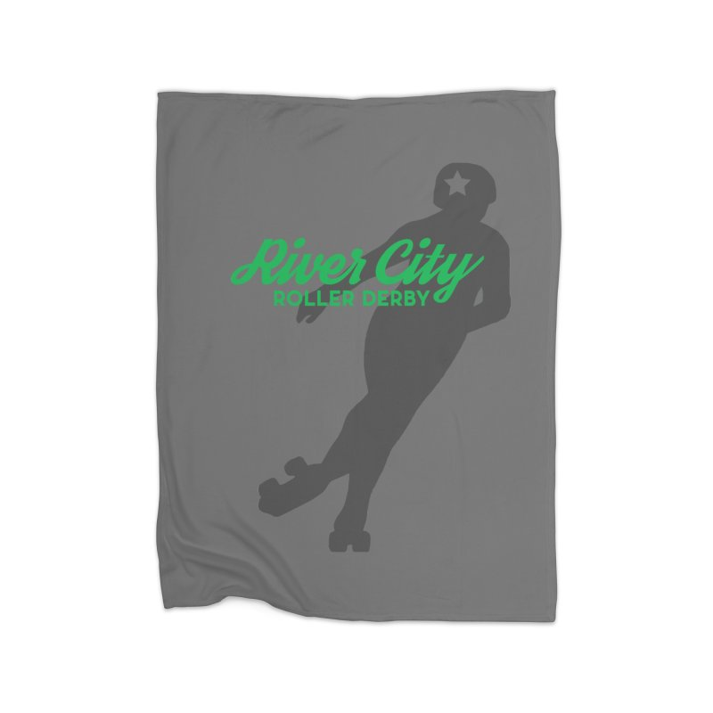 River City Roller Derby Skater Home Fleece Blanket Blanket by River City Roller Derby's Artist Shop