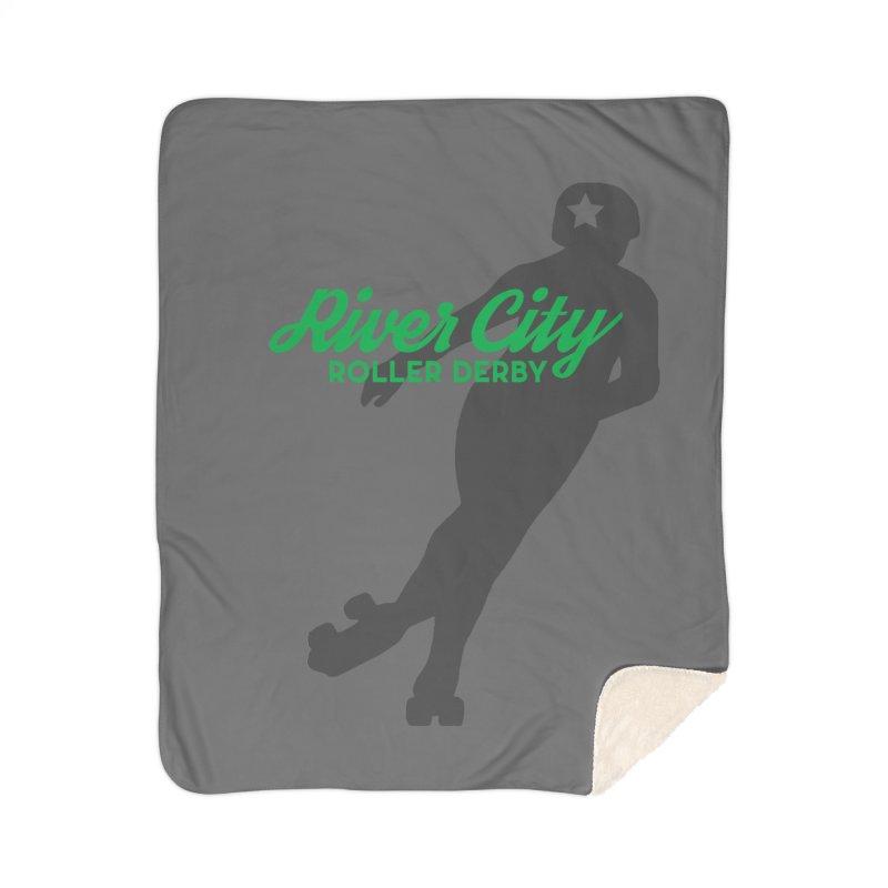 River City Roller Derby Skater Home Sherpa Blanket Blanket by River City Roller Derby's Artist Shop