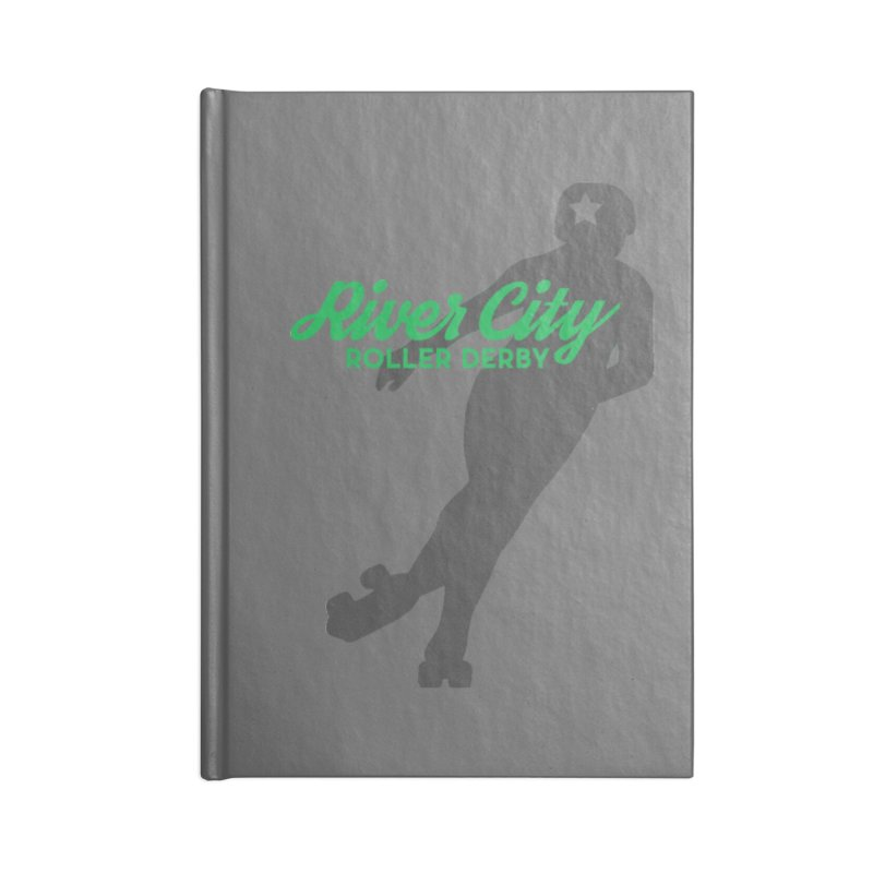 River City Roller Derby Skater Accessories Lined Journal Notebook by River City Roller Derby's Artist Shop