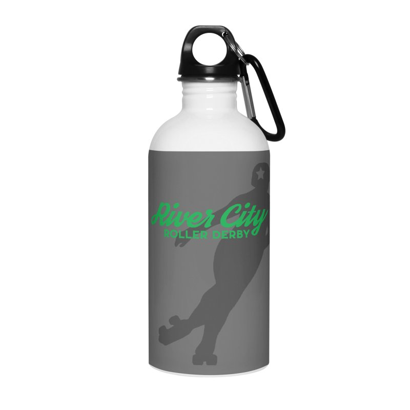 River City Roller Derby Skater Accessories Water Bottle by River City Roller Derby's Artist Shop