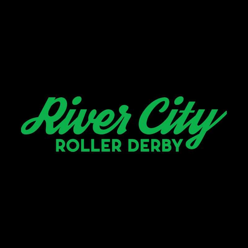 River City Roller Derby Green Accessories Water Bottle by River City Roller Derby's Artist Shop