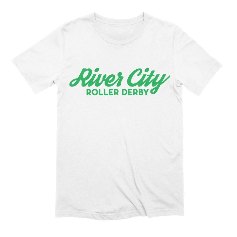 River City Roller Derby Green Men's Extra Soft T-Shirt by River City Roller Derby's Artist Shop