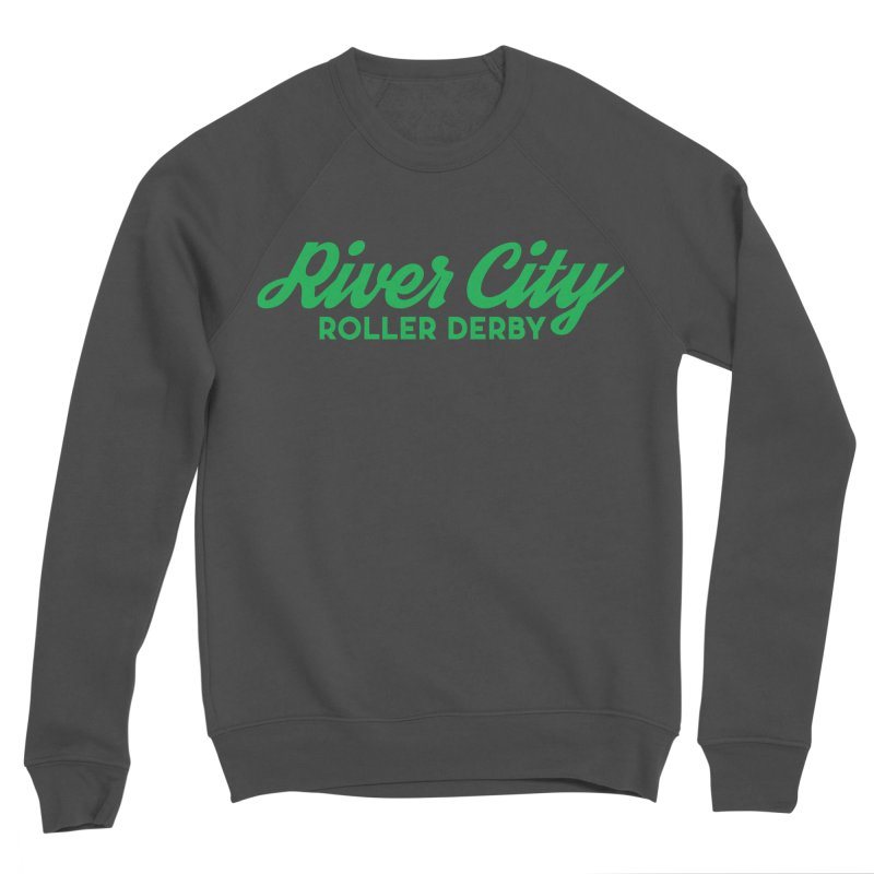 River City Roller Derby Green Men's Sponge Fleece Sweatshirt by River City Roller Derby's Artist Shop