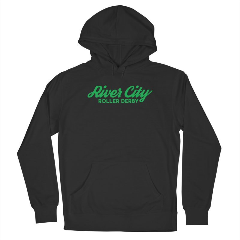 River City Roller Derby Green Men's French Terry Pullover Hoody by River City Roller Derby's Artist Shop