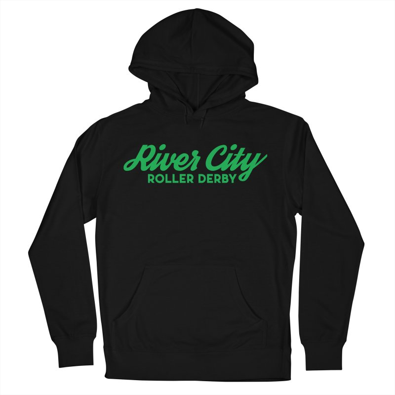 River City Roller Derby Green Men's French Terry Pullover Hoody by RiverCityRollerDerby's Artist Shop
