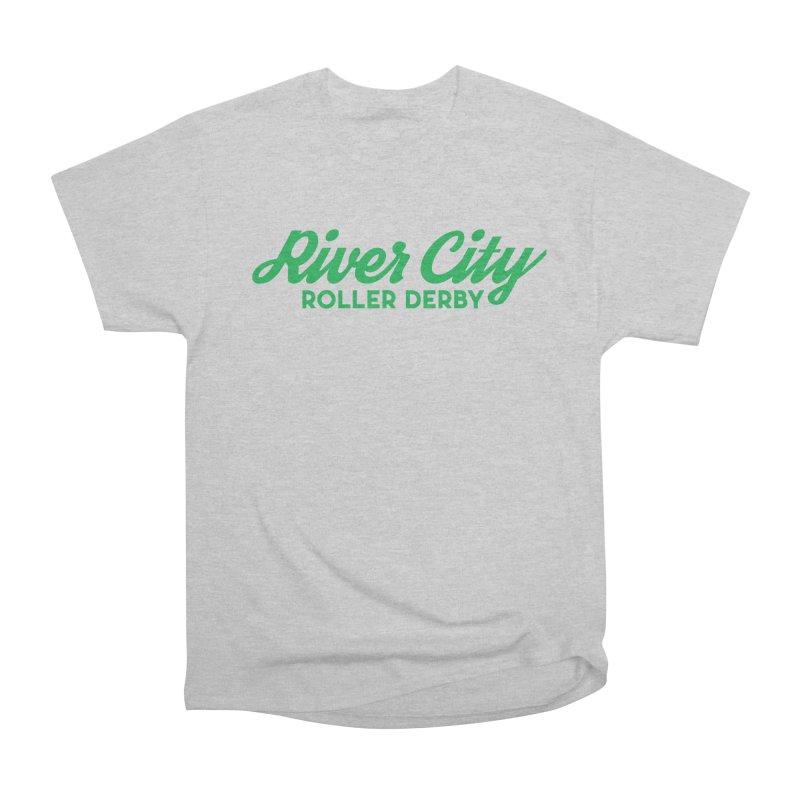 River City Roller Derby Green Men's Heavyweight T-Shirt by RiverCityRollerDerby's Artist Shop