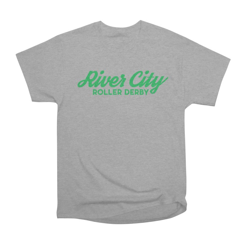 River City Roller Derby Green Men's Heavyweight T-Shirt by River City Roller Derby's Artist Shop