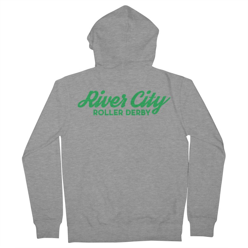 River City Roller Derby Green Women's French Terry Zip-Up Hoody by River City Roller Derby's Artist Shop