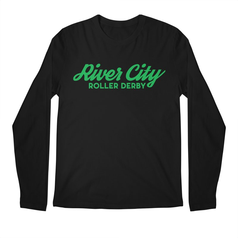 River City Roller Derby Green Men's Regular Longsleeve T-Shirt by River City Roller Derby's Artist Shop