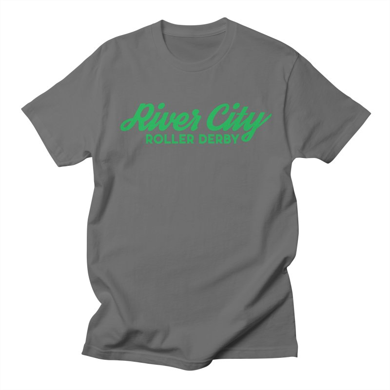 River City Roller Derby Green Men's T-Shirt by River City Roller Derby's Artist Shop