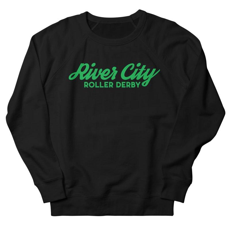 River City Roller Derby Green Men's French Terry Sweatshirt by RiverCityRollerDerby's Artist Shop