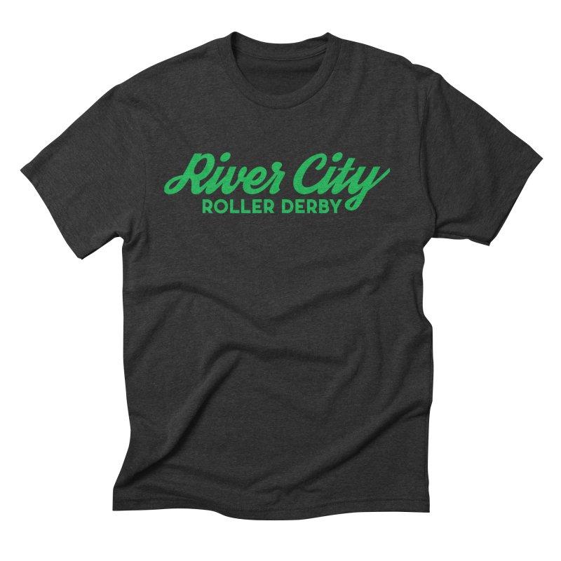 River City Roller Derby Green Men's Triblend T-Shirt by RiverCityRollerDerby's Artist Shop