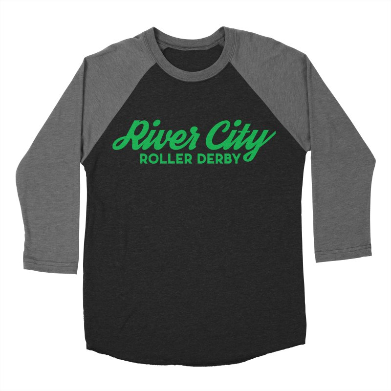 River City Roller Derby Green Women's Baseball Triblend Longsleeve T-Shirt by RiverCityRollerDerby's Artist Shop