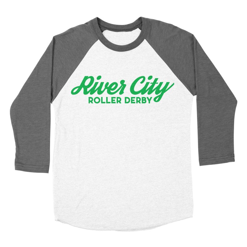 River City Roller Derby Green Men's Baseball Triblend Longsleeve T-Shirt by RiverCityRollerDerby's Artist Shop