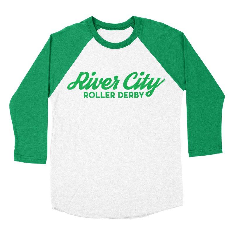 River City Roller Derby Green Men's Baseball Triblend Longsleeve T-Shirt by River City Roller Derby's Artist Shop
