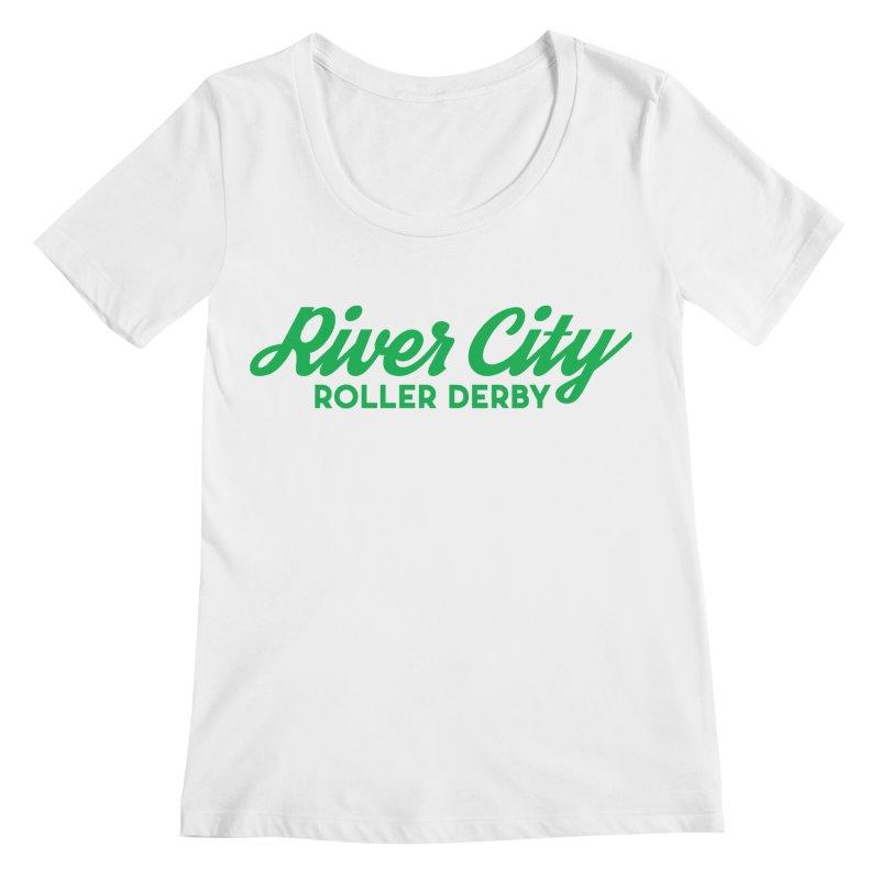River City Roller Derby Green Women's Regular Scoop Neck by River City Roller Derby's Artist Shop