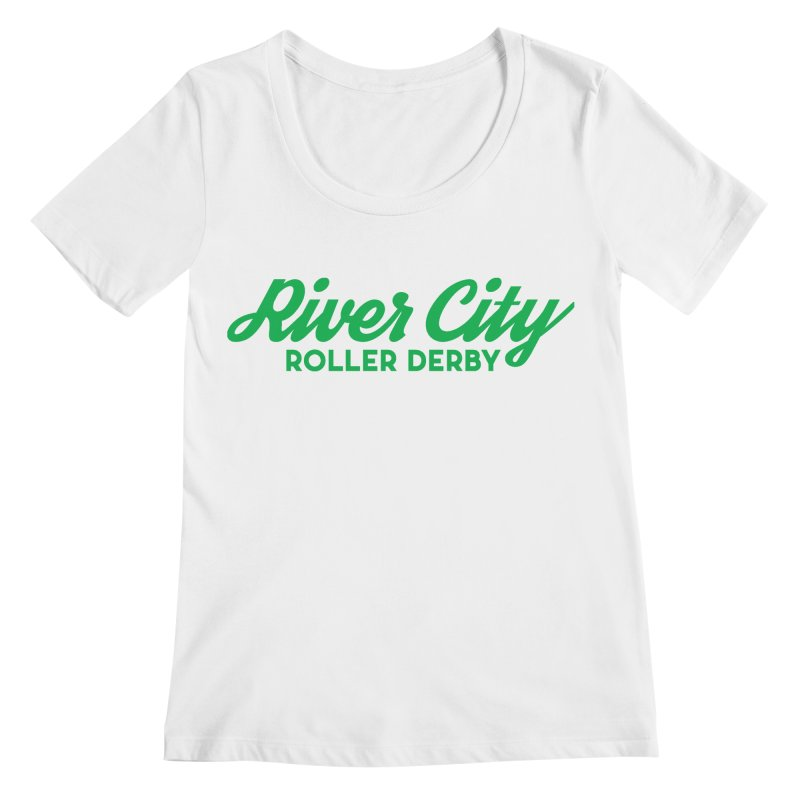 River City Roller Derby Green Women's Regular Scoop Neck by RiverCityRollerDerby's Artist Shop