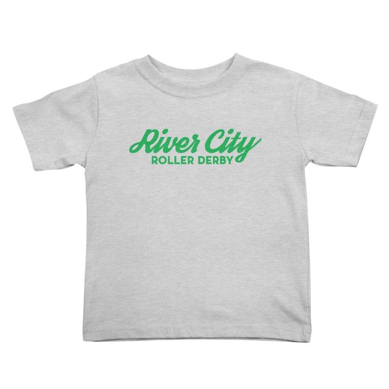 River City Roller Derby Green Kids Toddler T-Shirt by River City Roller Derby's Artist Shop