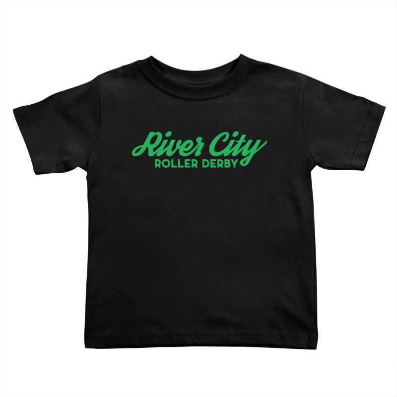 River City Roller Derby Green Kids Toddler T-Shirt by RiverCityRollerDerby's Artist Shop