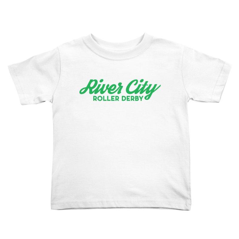 River City Roller Derby Green Kids Toddler T-Shirt by RiverCityRollerDerby's Artist Shop