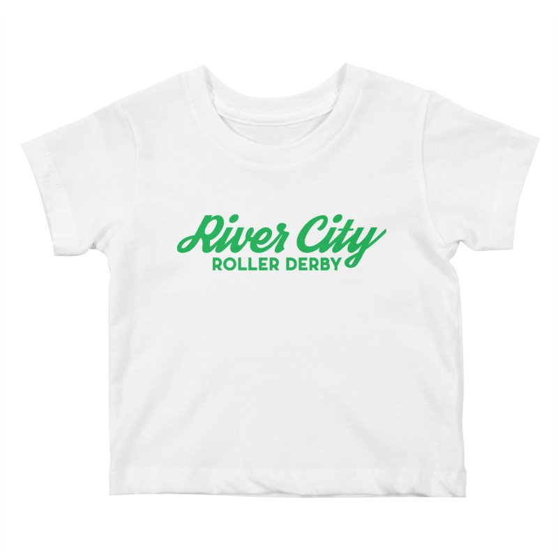 River City Roller Derby Green Kids Baby T-Shirt by River City Roller Derby's Artist Shop