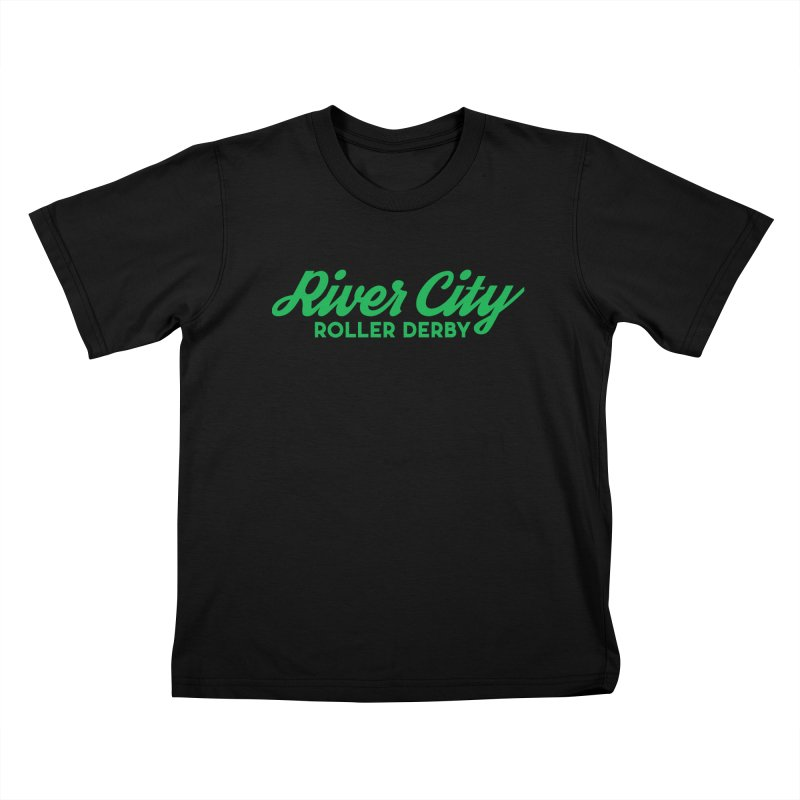 River City Roller Derby Green Kids T-Shirt by River City Roller Derby's Artist Shop