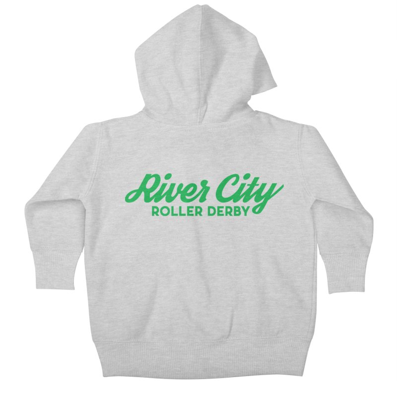 River City Roller Derby Green Kids Baby Zip-Up Hoody by River City Roller Derby's Artist Shop