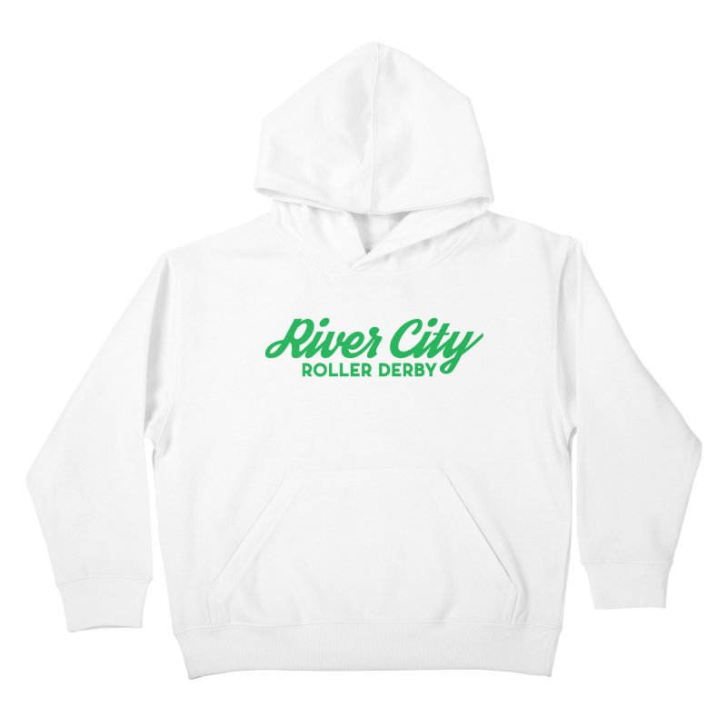 River City Roller Derby Green Kids Pullover Hoody by River City Roller Derby's Artist Shop
