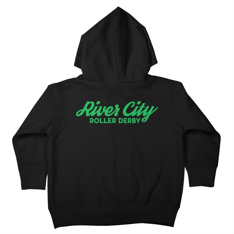 River City Roller Derby Green Kids Toddler Zip-Up Hoody by River City Roller Derby's Artist Shop