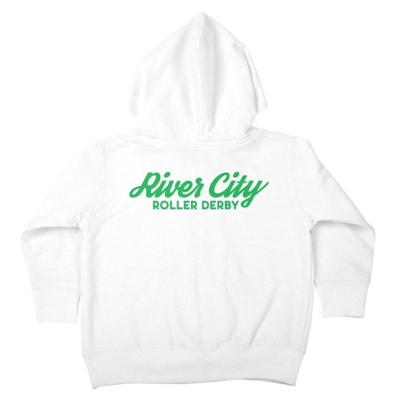 River City Roller Derby Green Kids Toddler Zip-Up Hoody by RiverCityRollerDerby's Artist Shop
