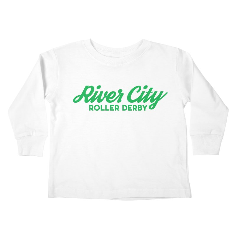 River City Roller Derby Green Kids Toddler Longsleeve T-Shirt by RiverCityRollerDerby's Artist Shop