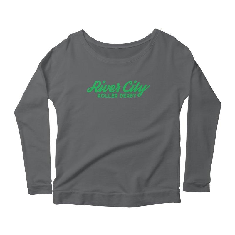 River City Roller Derby Green Women's Scoop Neck Longsleeve T-Shirt by River City Roller Derby's Artist Shop
